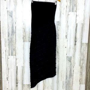 Asymmetrical embellished tube dress EUC